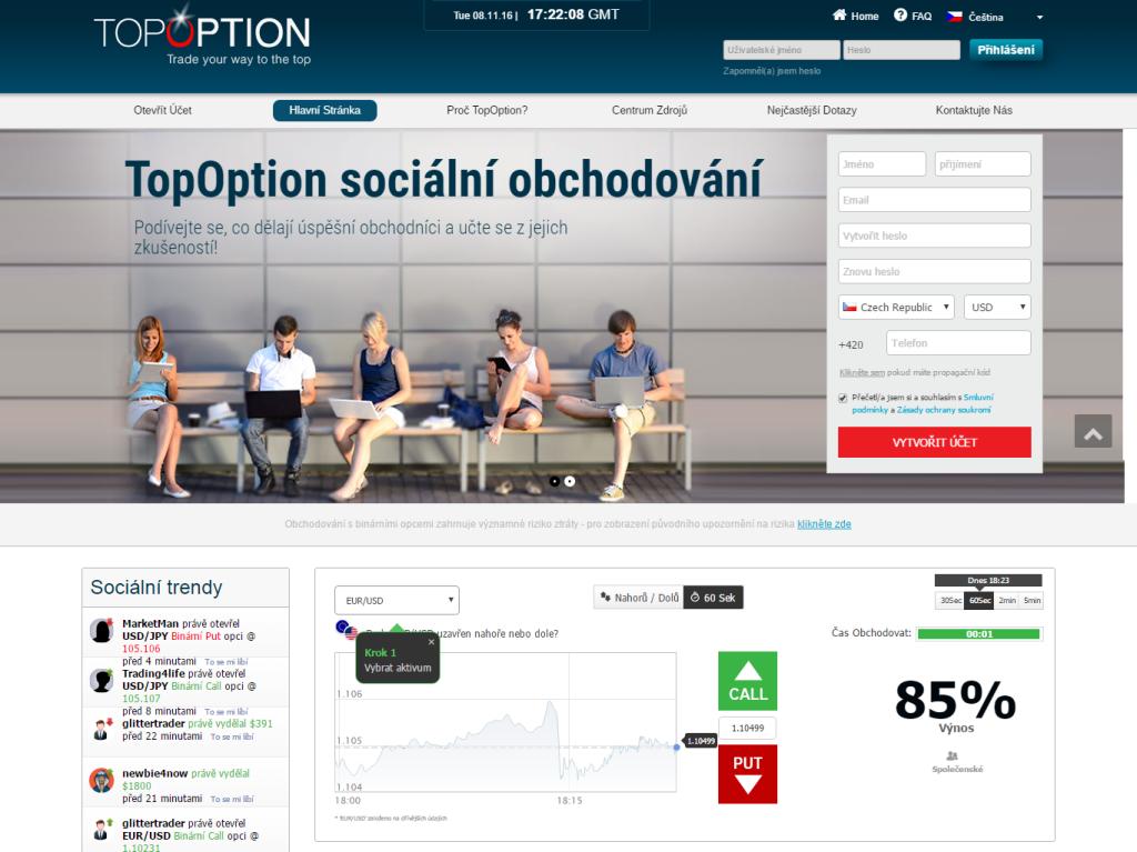 Jedním z regulovaných binárních brokerů je TopOption